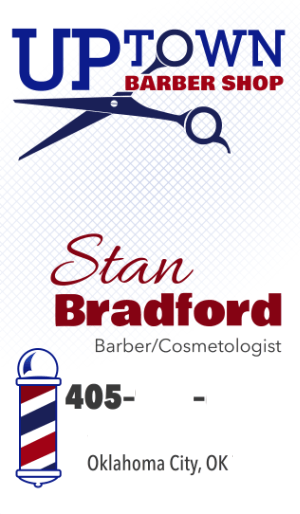 Uptown Barber Shop - Stan's card